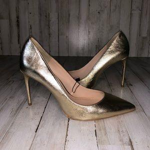 Zara Metallic Gold Pump